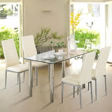 kitchen furniture sets 5 piece dining table set for 4 chairs glass metal kitchen breakfast