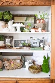 Green Home Decor Spring Home Decor Adding Spring To The New Hutch My Creative Days