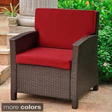 red wicker patio furniture shop the best outdoor seating