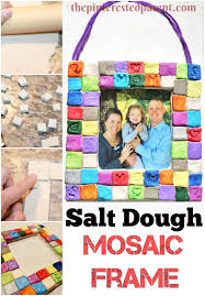 salt dough mosaic frames u2013 the pinterested parent