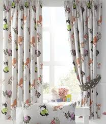 Lined Nursery Curtains by Luxury Dapper Dogs Pug Puppy Kids Childrens Lined Curtains Set 66