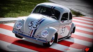 volkswagen beetle classic herbie forza 4 volkwagon beetle herbie top gear test track youtube