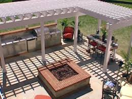 outdoor kitchen designs plans with modern space saving design