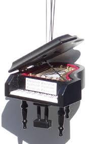 piano keyboard harp ornament 6 items