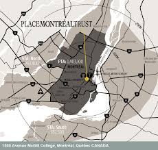 Map Montreal Canada by Place Montreal Trust Shopping Centre In Montreal Canada