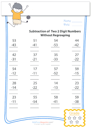 subtraction of 2 digit numbers without regrouping archives