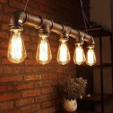 Edison Ceiling Light New Industrial Chandelier Pendant Loft Lamp Ceiling Metal Pipe