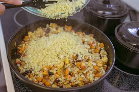 Thanksgiving Vegetarian Main Dishes - cauliflower and pecan stuffing vegetarian side dish for thanksgiving