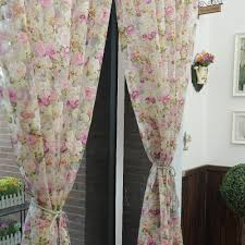 aliexpress com buy floral design washable tulle curtain fabrics