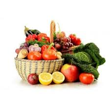 fruit and vegetable baskets fruits vegetables basket cut out stock images pictures alamy fruit