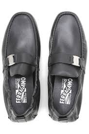 mens boots salvatore ferragamo loafers black silver shoes mens