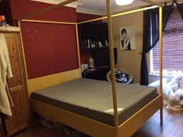ikea double four poster bed frame and mattress in langley park