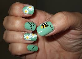 lucky beauty spring has sprung nail design