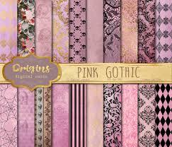 halloween scrapbook papers pink gothic digital paper skull damask halloween scrapbook papers