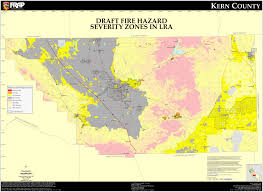 Los Angeles Fires Map by Cal Fire Kern County Fhsz Map