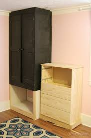Build A Small Shelf Unit by Remodelaholic Built In Closet Hack