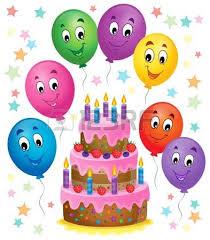 birthday cake theme image 7 vector illustration royalty free