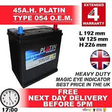 honda car battery 054 platin 45ah car battery fits many chevrolet daewoo honda