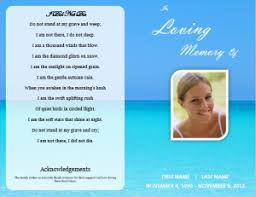 memorial service programs ideas for funeral service cards programs exles funeral