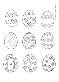 butterfly and easter eggs coloring page for kids pages printables