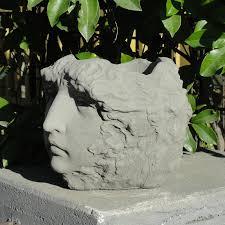designer stone lady u0027s head planter refined hayneedle