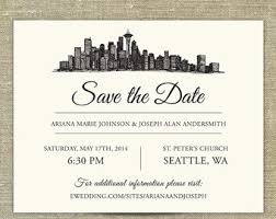 save the date wording seattle save date etsy