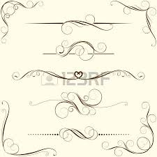 set of swirl floral ornaments royalty free cliparts vectors and