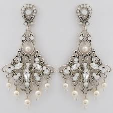 chandelier wedding earrings jayne bridal earrings vintage wedding chandelier earrings