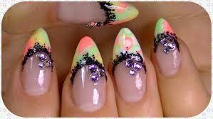 neon nail design summer 2014 youtube