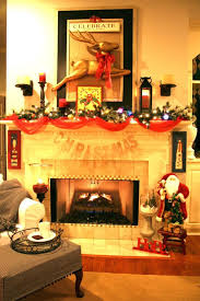 fireplace cozy christmas fireplace decorations ideas for home