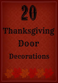 20 Lovely Thanksgiving Door Decorations