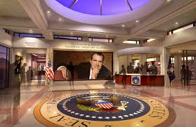 opening ceremonies for the new nixon library and museum