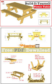 Free Diy Patio Table Plans by Best 20 Folding Picnic Table Plans Ideas On Pinterest U2014no Signup