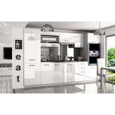 vente cuisine justhome syntka pro cuisine équipée complète 300 cm couleur noir