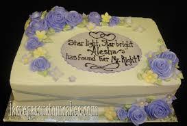 wedding shower cakes home
