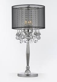 crystal buffet lamp silver mist 3 light chrome crystal table lamp