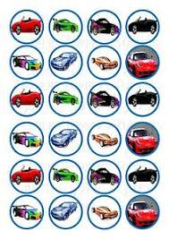 cars cake toppers 24 sports cars cupcake topper wafer rice edible fairy cake bun