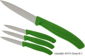 kitchen knives victorinox victorinox swissclassic serrated vegetable knives green set of 4