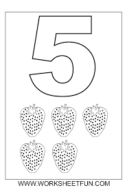 free coloring pages of number 5 trace number coloring in numbers