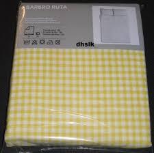 Gingham Duvet Covers Barbro Ruta Full Queen Duvet Cover Pillowcases Set Yellow Checked