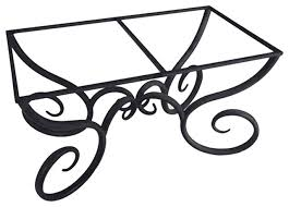 Iron Table Base Milan Rectangle Dining Table Base Only For 42