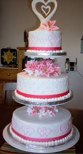 3 Tier Wedding Cake Pink And White 3 Tier Wedding Cake Cakecentral Com