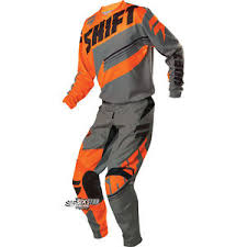 motocross gear on sale shift mx assault orange grey ktm motocross jersey pant gear kit
