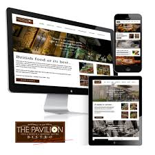 pavilion restaurant website design tt graphic design