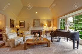 vaulted ceiling living room luxury family room with high vaulted ceiling and large french