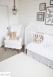 Cable Knit Rug White Shiplap Gender Neutral Nursery Reveal U2014 The Mountain View