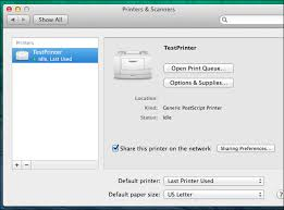 printable area old os how to share printers between windows mac and linux pcs on a network