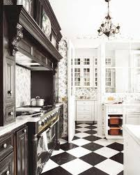 Black And White Kitchen Floors Black And White Themed French Kitchen Outofhome