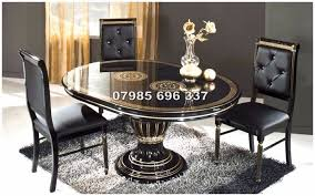 Italian Dining Tables And Chairs Versace Style Rossella Italian Dining Table And Chairs
