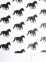 peel and stick horse wallpaper sarah hearts